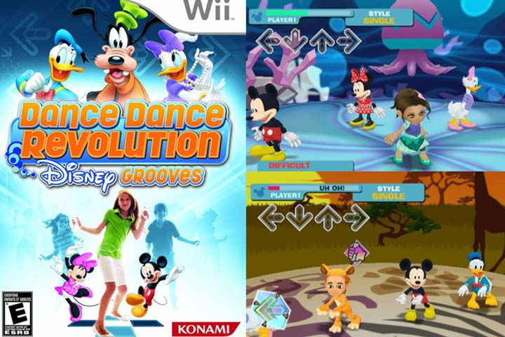10 Best And Interesting Wii Games For Toddlers Dance Dance Revolution Disney Grooves
