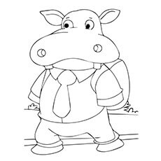 10 cute free printable hippo coloring pages for toddlers