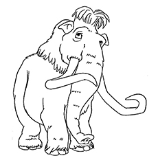 10 cute ice age coloring pages for your toddler