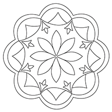 rangoli coloring pages # 9