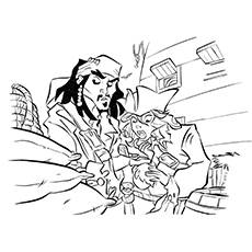 pirates of the caribbean coloring pages # 35