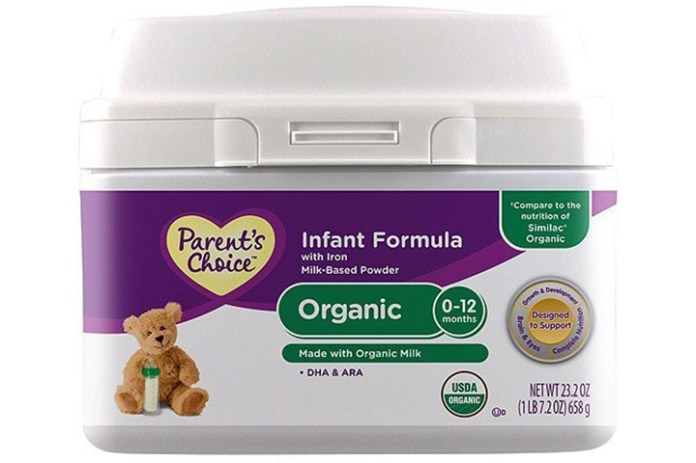 Parent's Choice Organic Infant Formula Powder