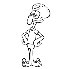 squidward coloring pages # 1