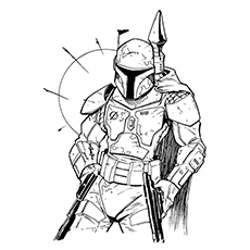 boba fett coloring page # 0