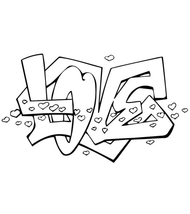 Top 24 Free Printable Graffiti Coloring Pages Online