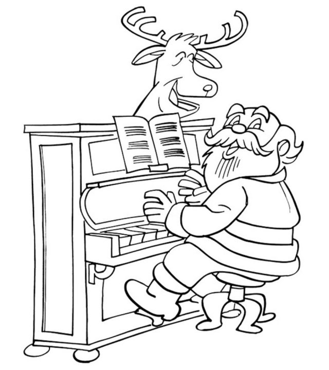 29 Beautiful Piano Coloring Pages For Your Little One