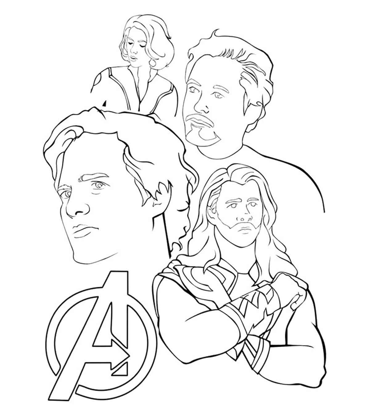 Super Heros Coloring Pages