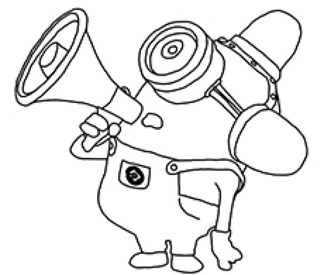 Cute Minions Coloring Pages For Your Toddler