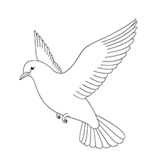 10 best dove coloring pages for toddlers