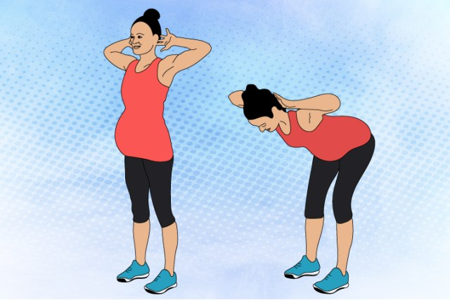 Standing Ab Crunch Exercise During Pregnancy