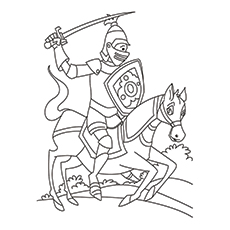 knights coloring pages # 0