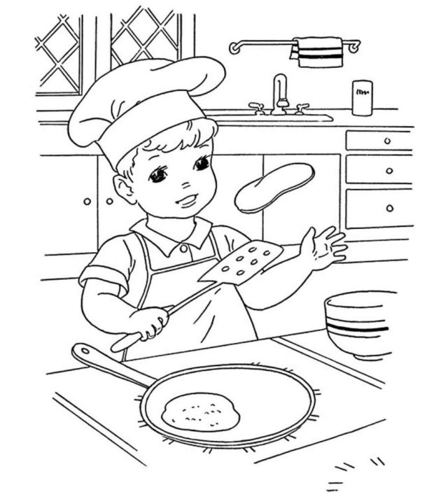 30 Wonderful Pancake Coloring Pages For Your Little Ones