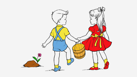 Image result for Jack and Jill cartoon