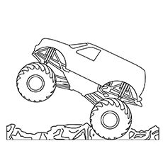 10 wonderful monster truck coloring pages for toddlers