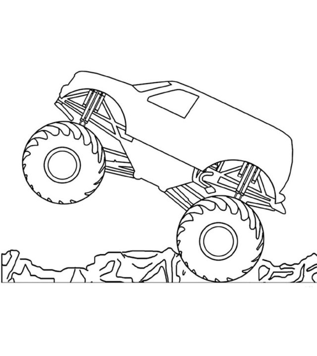 21 Wonderful Monster Truck Coloring Pages For Toddlers