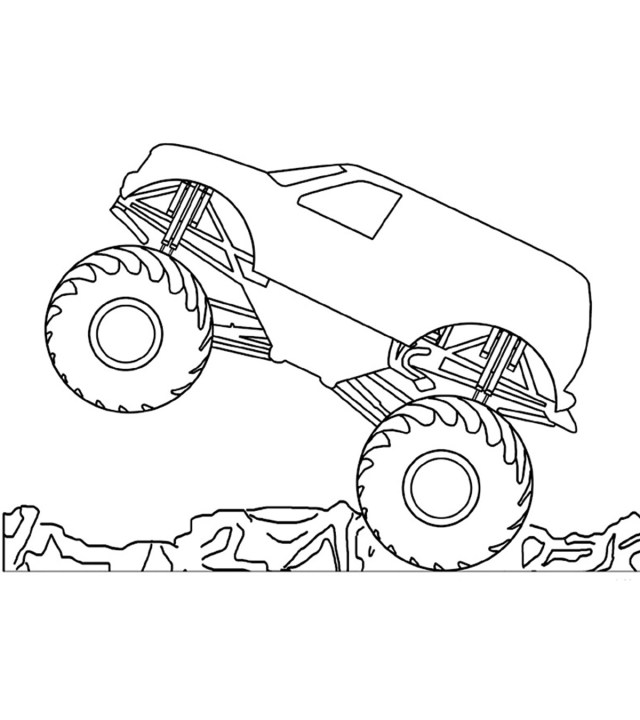 11 Wonderful Monster Truck Coloring Pages For Toddlers