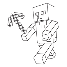 minecraft printables coloring pages # 4