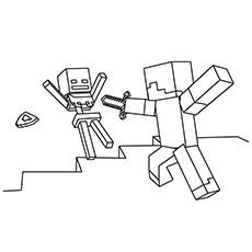 minecraft coloring pages to print # 4