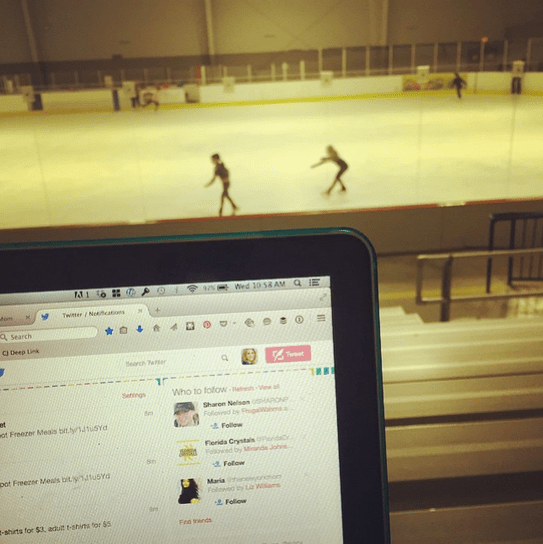 I love how blogging allows me to be able to work from anywhere!