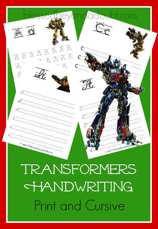 Transformers-Handwriting-Packs