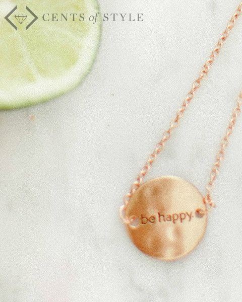 Be Happy Bracelet and Necklace for $6.95 shipped