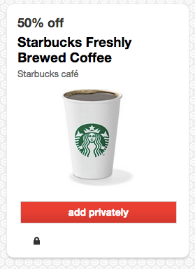 Starbucks Coffee Deal at Target