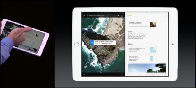 Pantalla dividida en iPad Air 2