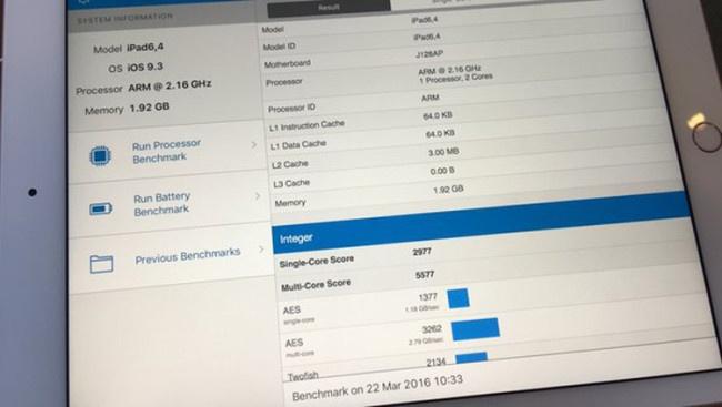 Memoria RAM del iPad Pro 9.7