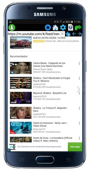 Listado de vídeos en QMV Descargar Video