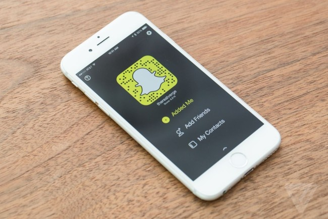 Acceso a la app Snapchat