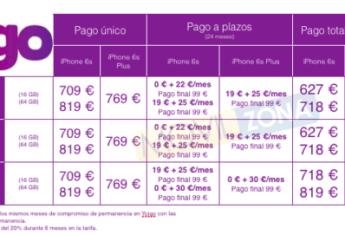 precios del iPhone 6s yoigo