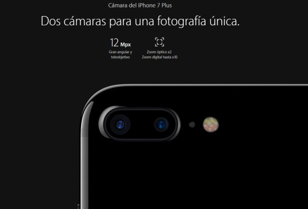 Doble cámara del iPhone 7 Plus