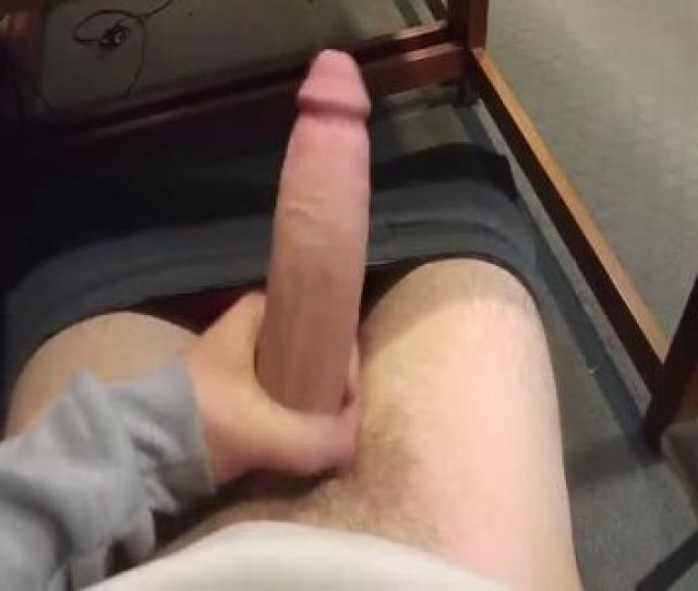 Monster White Cock Exposed At A Public Library