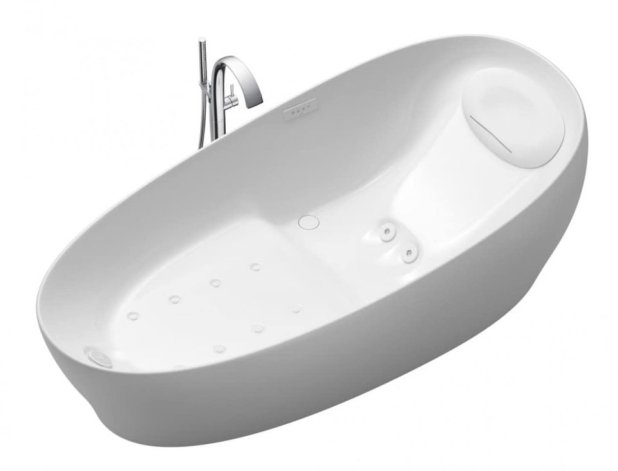 Photo -  The Toto bathtub's zero dimension technology will make you feel as if you're weightless. [PHOTO PROVIDED BY TOTO]