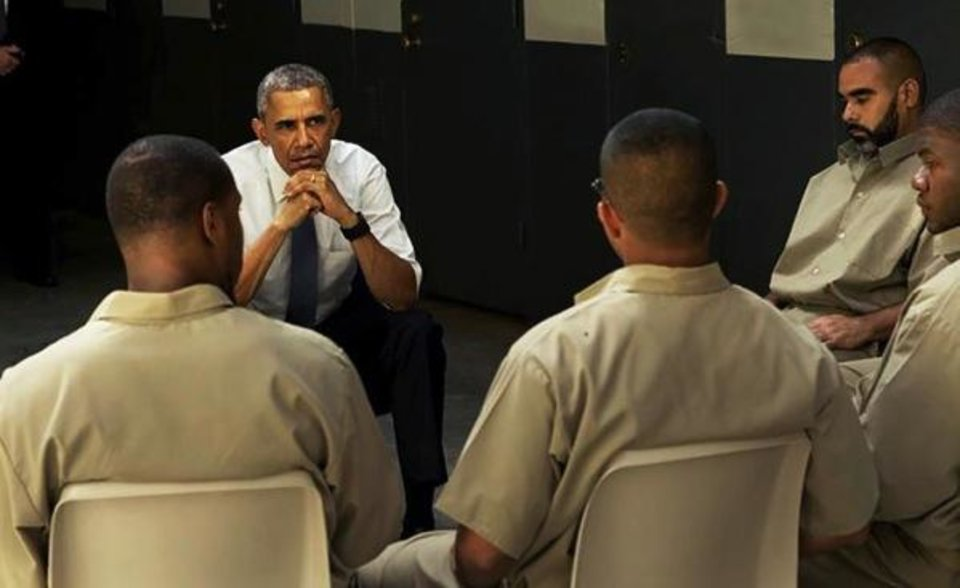 Image result for Obama speaks PRISON