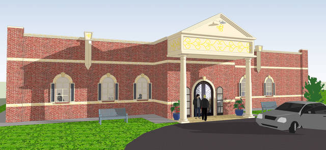 """This architectural drawing shows the new Sikh Gurdwara of Oklahoma building being constructed"" (photo: newsok.com)"