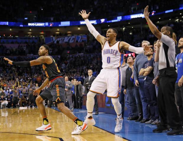 OKC Thunder: Westbrook\'s late charge comes up short as Hawks top ...