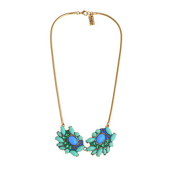 Oceanic Crystal Statement Necklace