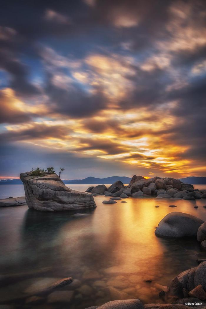 "Today's Photo Of The Day is ""Miniature"" by Menx Cuizon. Location: Bonsai Rock, Lake Tahoe, Nevada."