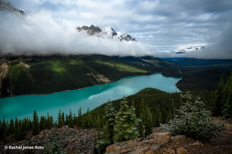 Image of fall snow in the Canadian Rockies