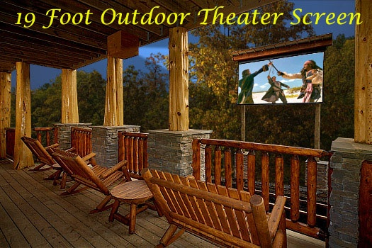 Outdoor Theater At Incredible A 6 Bedroom Cabin Al Located In Gatlinburg