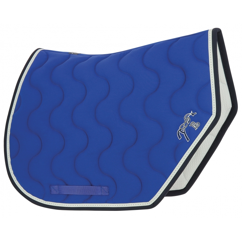 tapis de selle point sellier sport bleu roi marine