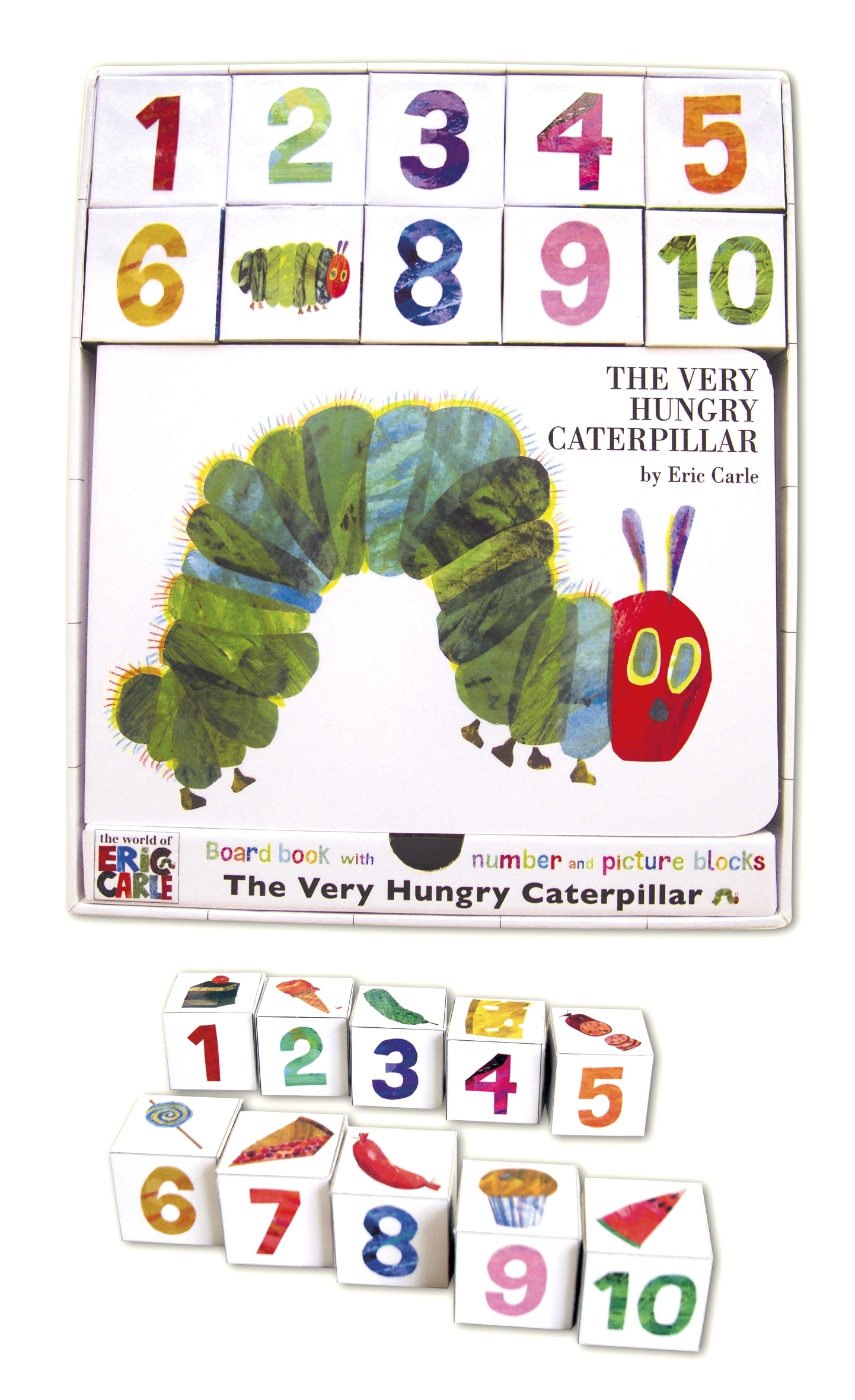 The Very Hungry Caterpillar Board Book And Block Set By Eric Carle