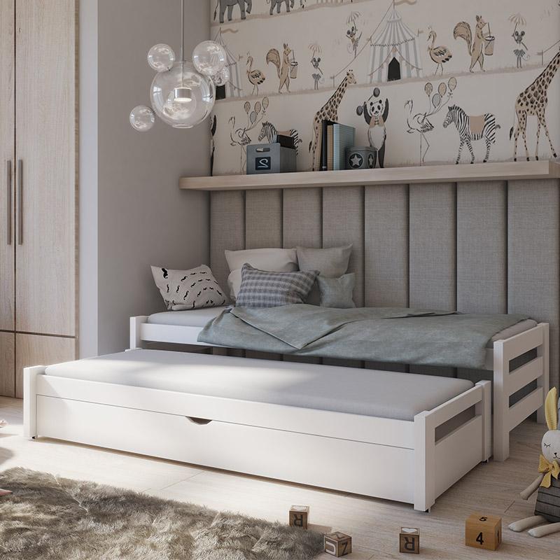 lit gigogne anis pour chambre enfant personnalisable avec tiroir