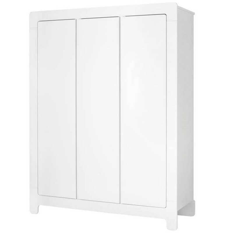 armoire blanche moon trois portes pour chambre d enfant