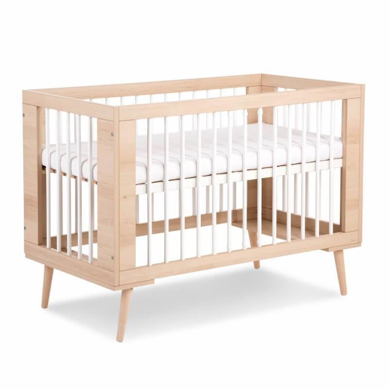 lit bebe scandinave sofie 120x60cm blanc ou hetre