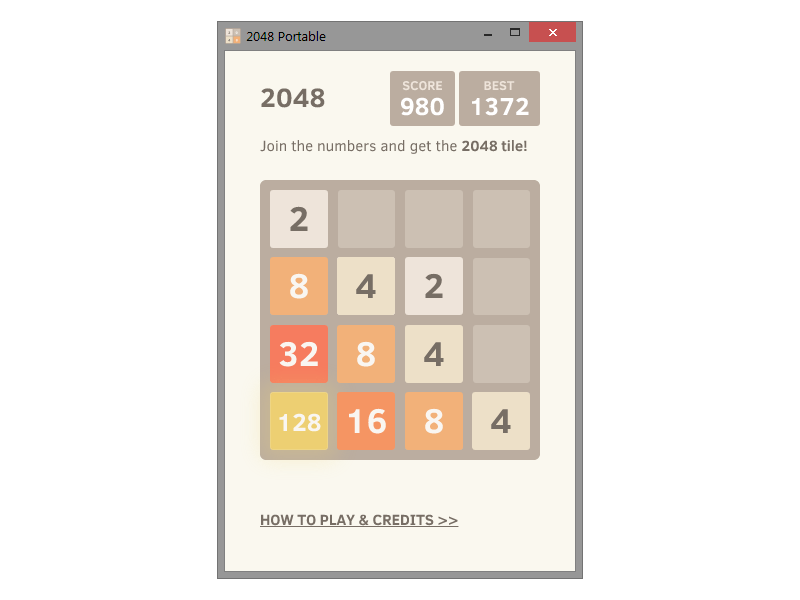 2048 portable 2 2 numbered tile puzzle