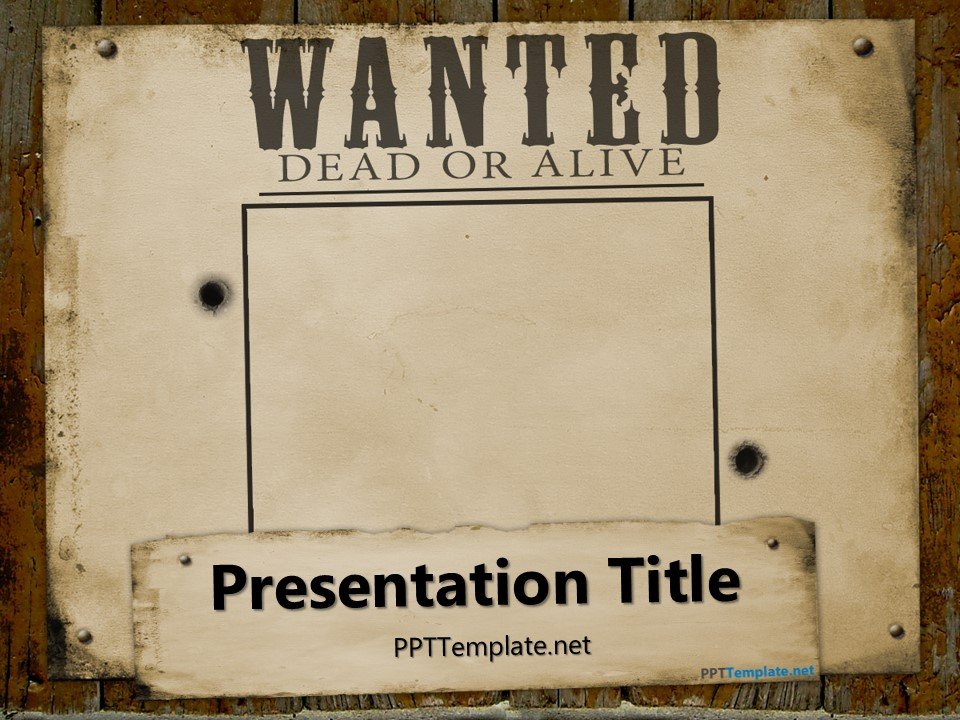 Wanted Template 18 western wanted poster templates free printable – Most Wanted Poster Template