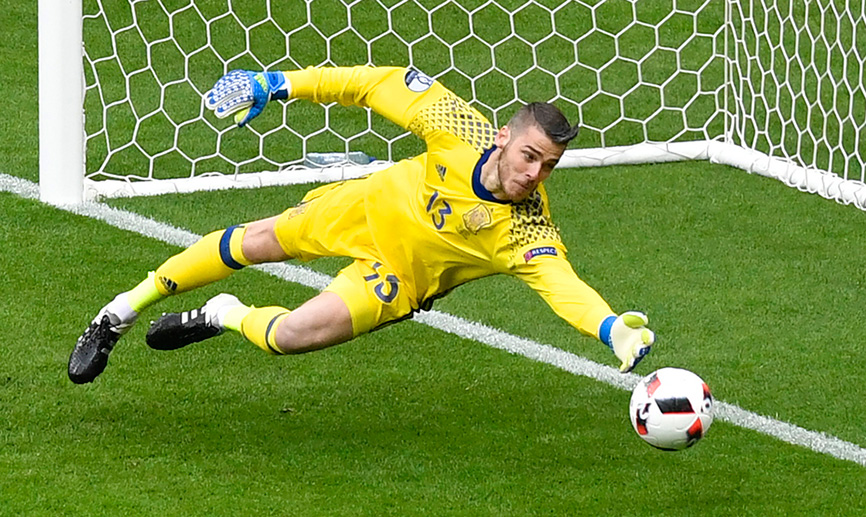 Image result for david de gea spain save