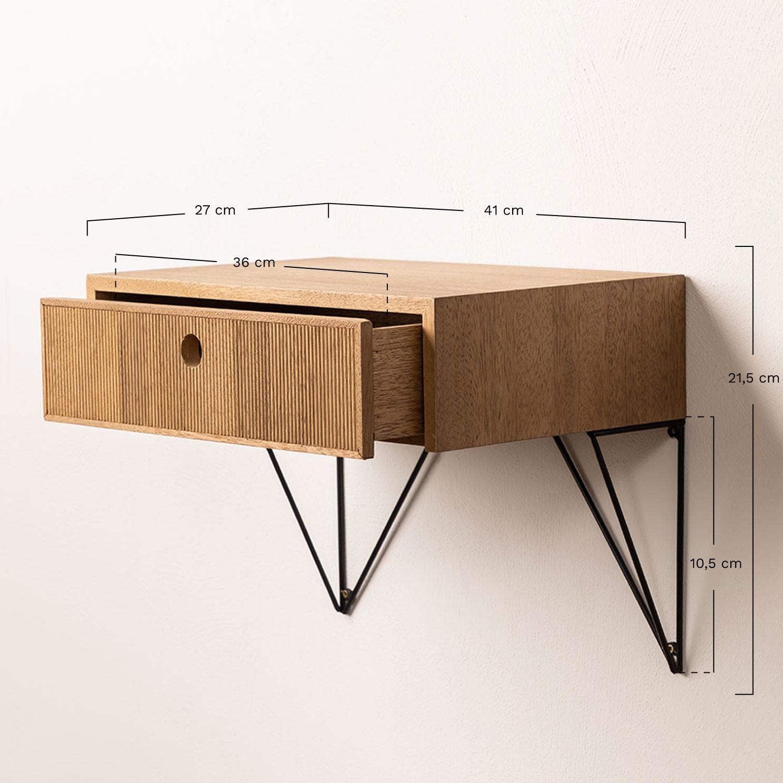 table de chevet murale avec tiroir en